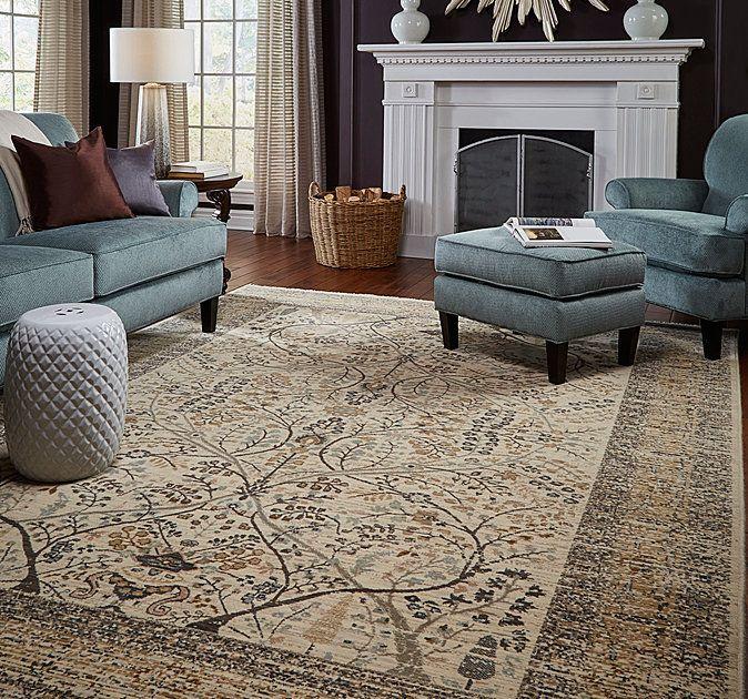 San Pareil Ivory Rectangle 12ft X 15ft Fine Carpets Rugs On Carpet Rugs