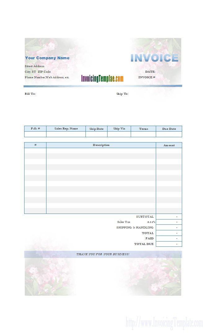 Mountain Laurel Bill Format