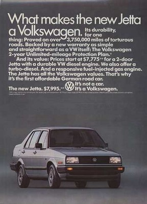 Vokswagen Jetta 1985 (First VW we ever bought)  White, 5 spd & no options!