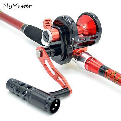 All Saltwater Trolling Fishing Reels 6.0:1 Gear Sea Fishing Reel Right/Left Use