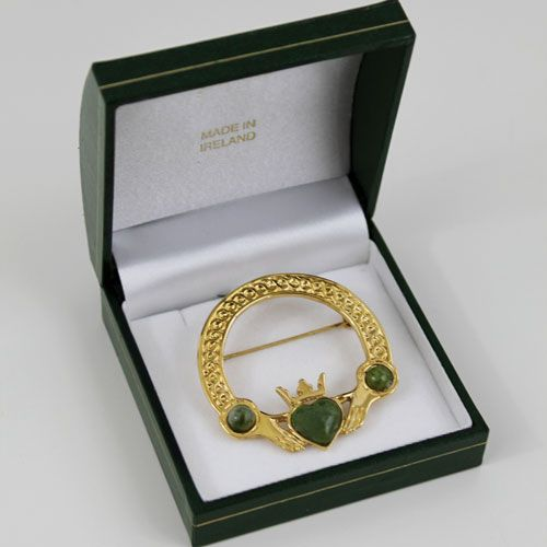 Connemara Marble Claddagh Brooch Irish Jewelry Wish List