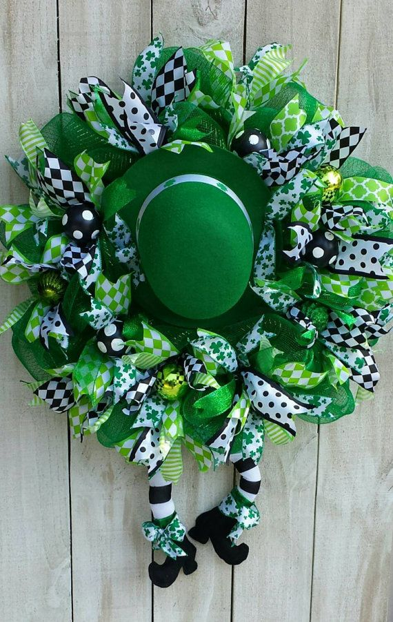 Hey, I found this really awesome Etsy listing at https://www.etsy.com/listing/222756931/st-patricks-day-wreath-st-paddys-wreath
