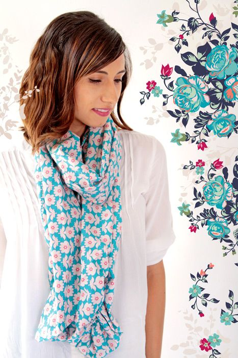 Floressence Fabric Collection Loves Notes Scarf
