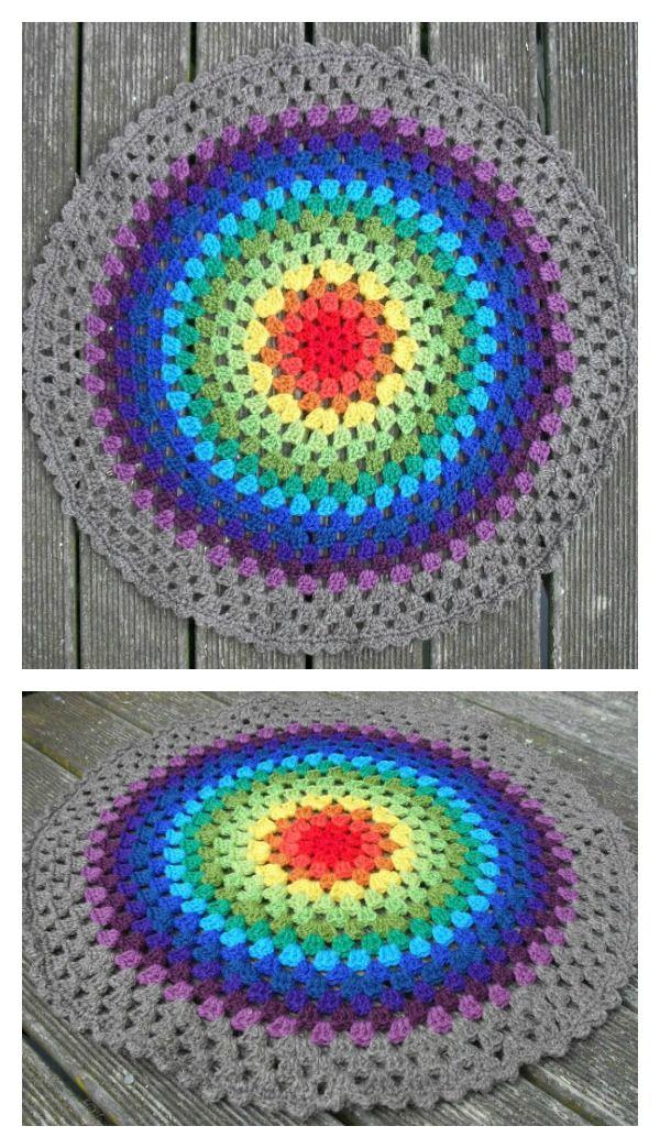 Crochet Granny Mandala Free Pattern