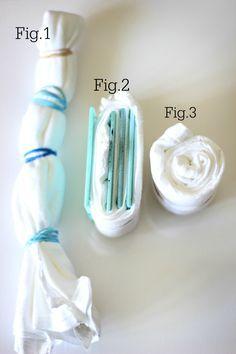 Method to fold for dress/skirt, uses tiles