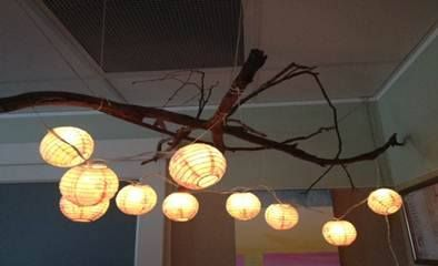 "Lovely lighting idea from Cammeray 2 Nursery, image shared by Only About Children ("",)"