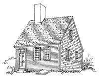 One-Half Cape (or Single Cape) The starter house of its day, the half Cape often evolved through subsequent additions into a three-quarter Cape and on to a full Cape as its occupants' families and fortunes grew. Nevertheless, examples remain throughout New England.