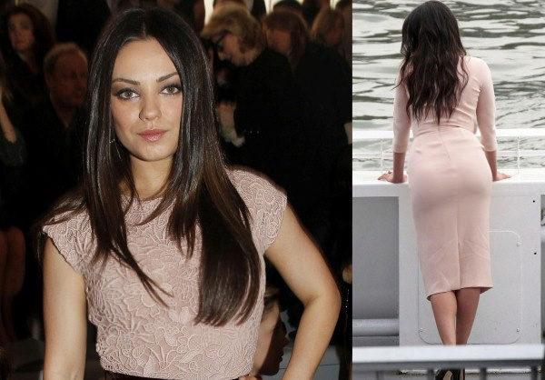 Here we see Mila Kunis representing Christian Dior at the Ready to Wear, Fall 2012 collection during Paris Fashion Week. The hot actress is seen wearing a lacy cocktail dress, coming till her knees and a sleek coat. The dress and the color suits the 5 ft 3 inches height and brown eyes of Mila perfectly.    There are 23 photos of Mila Kunis in this picture gallery. Collect them all and Enjoy!