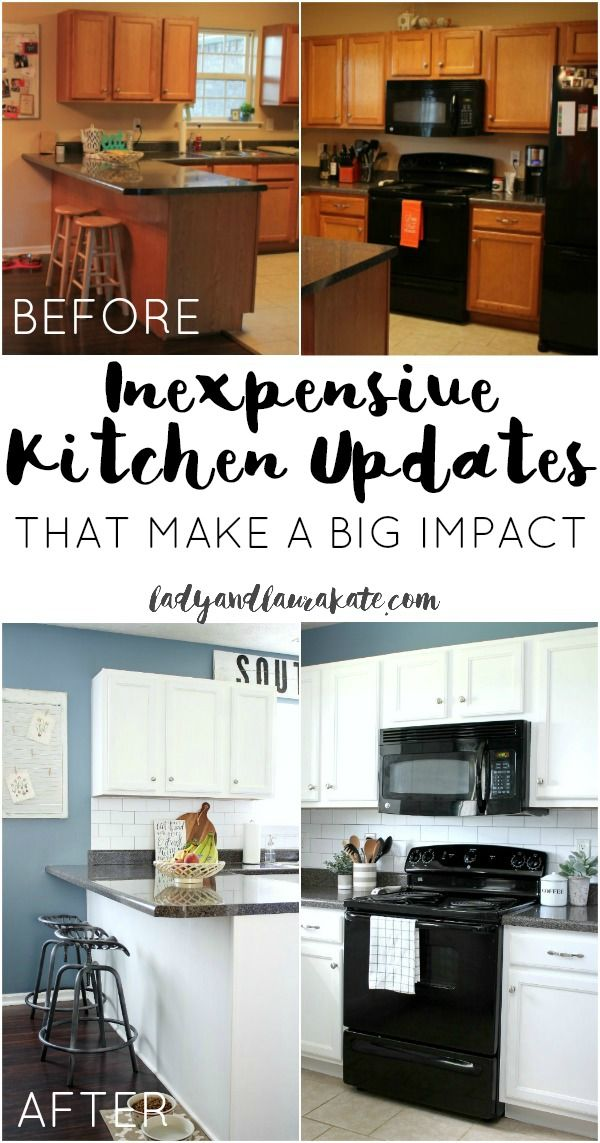 High Quality It Takes Just A Few Inexpensive Kitchen Updates To Take Your Kitchen From  Builder Grade To Pictures Gallery