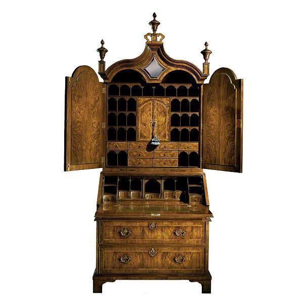 baker stately homes collection no 5098 queen anne bureau cabinet x 24 d x 100 5. Black Bedroom Furniture Sets. Home Design Ideas