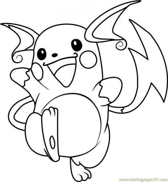 Raichu Pokemon Coloring Pages Dessin Pokemon A Imprimer Dessin Pokemon Pokemon A Imprimer