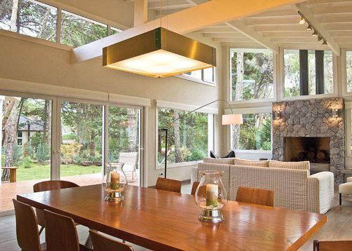 A lo largo, vidriado integrado con cocina