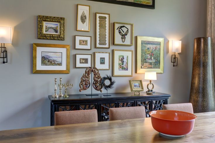 Eclectic Artwork from around the world, Circa Lighting Sconces, Cisco Home Table