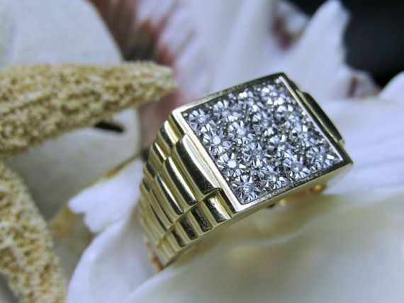 Awesome k Mens Diamond Ring g Size Rolex by EverythingIOwn