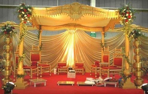 Golden Wedding Mandap