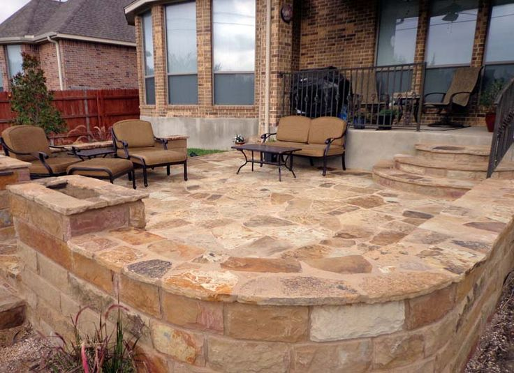 Oklahoma Flagstone With Seat Wall Greenscapes