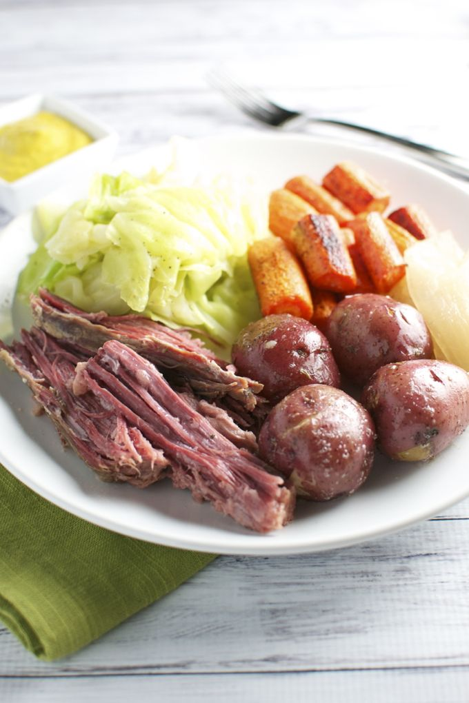 Corned Beef and Cabbage. The most popular St. Patrick's meal! | www.stuckonsweet.com