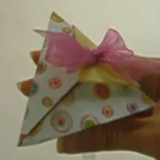 Come fare scatolina origami piramidale - Video Tutorial