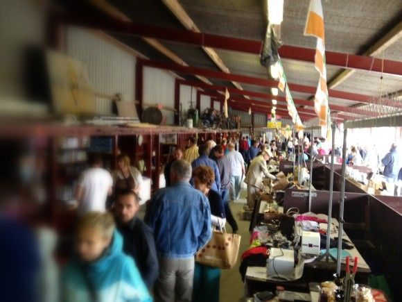 The indoor stalls at the Fethard Boot Sale