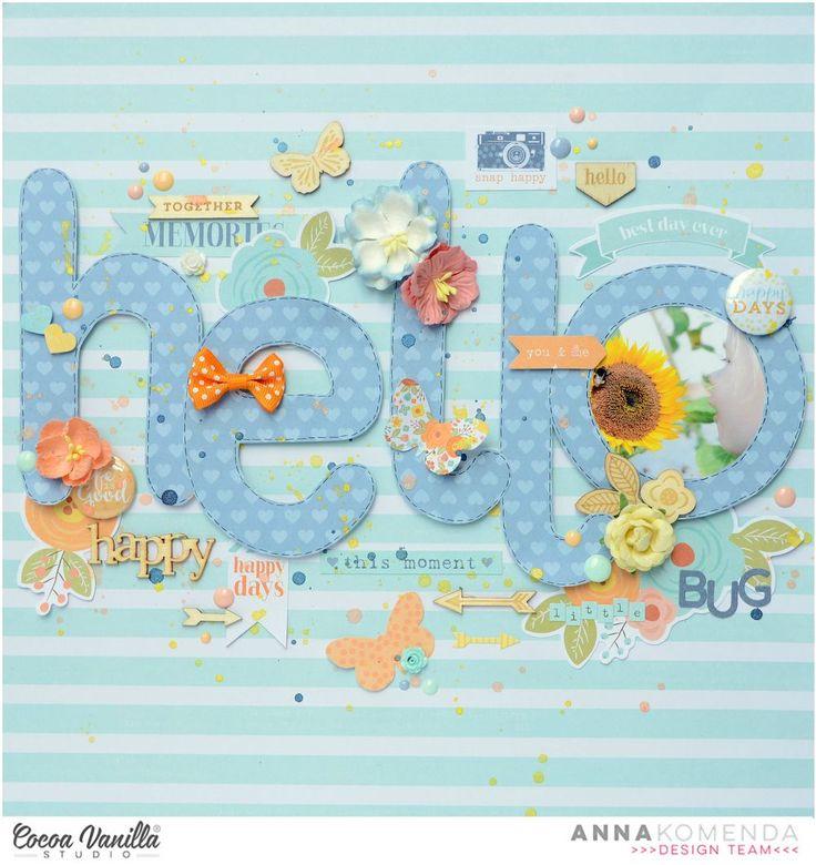 Hello little bug | Life is beautiful layout | Anna Komenda | Cocoa Vanilla Studio