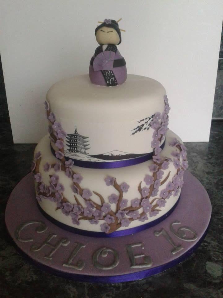 Japanese themed cake