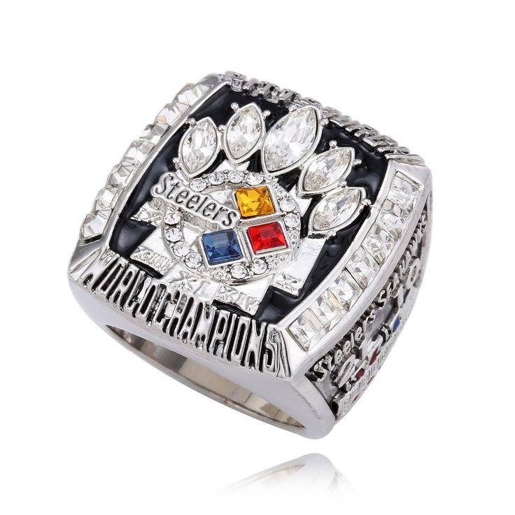 2005スーパーボウルxlピッツバーグ·スティーラーズ選手権リング男性ジュエリーアメリカンフットボールゲームレプリカチャンピオンリング用ファンJ02128