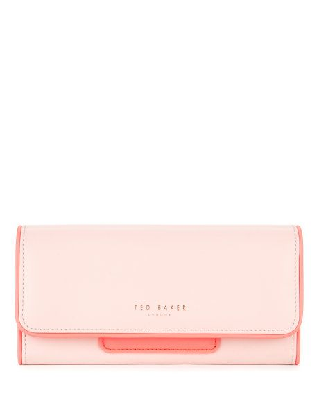 Leather mirror charm purse - Light Pink | Purses | Ted Baker