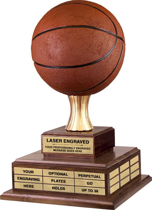Basketball Twin Tier Perpetual Trophy
