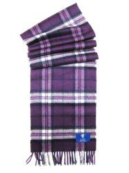 Plum Purple Thomson Tartan 100% Scottish Cashmere Scarf – Made in Scotland