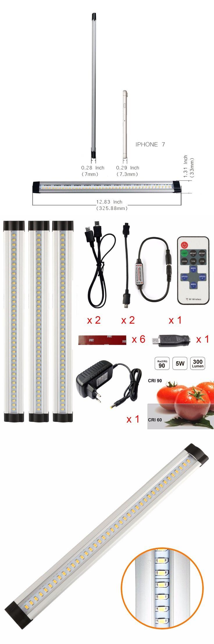 UnvarySam DC12V 3pcs/set IR remote control Dimmable UNDER CABINET LIGHT Kitchen Wardrobe Cupboard Closet  Light LED bar light