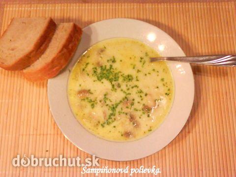 Fotorecept: Šampiňónová polievka