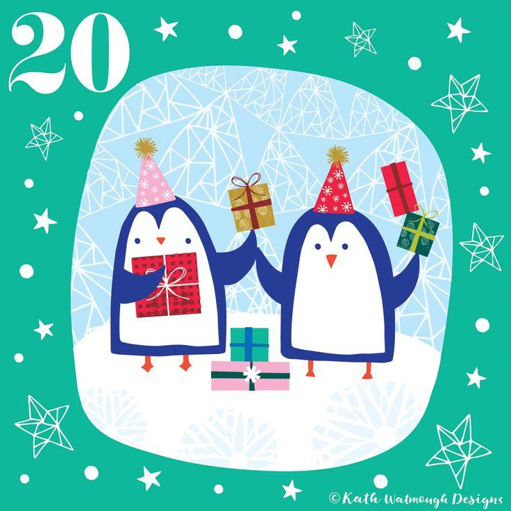 Day 20 - Penguins and presents.  #makeitindesign #penguins #christmaspresents #advent #adventcalendar #adventcalendar2017 #adventchallenge2017 #adventcalendarart #illustration #christmascountdown #christmascalendar #christmas #freelance #freelancedesigner #christmas2017 www.instagram.com/kathwatmough