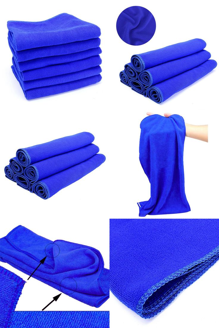 [Visit to Buy] 70*30cm Microfiber Blue Towel Car Wipe Cloth Cleaning Clothes Wash Cleaner #Advertisement