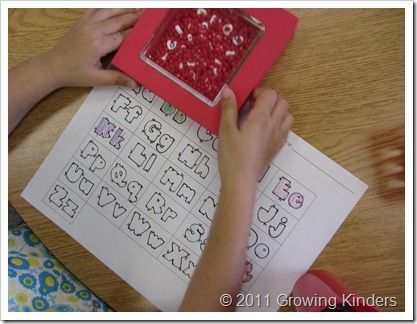 Back to School - Easy kindergarten letter review and practice for centers
