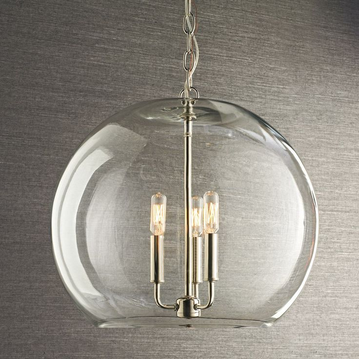 145 best crystal clear glass images on pinterest clear glass clear glass sphere chandelier clearly a winner in versatility and simplicity this clear glass dome and 3 light cluster of candlelights brightens kitchen aloadofball