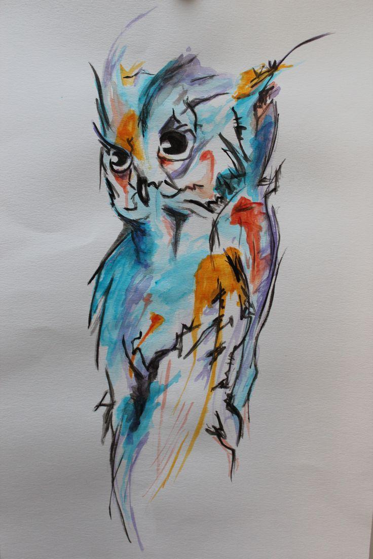 Hibou dessin recherche google bricolage pinterest - Hibou en dessin ...