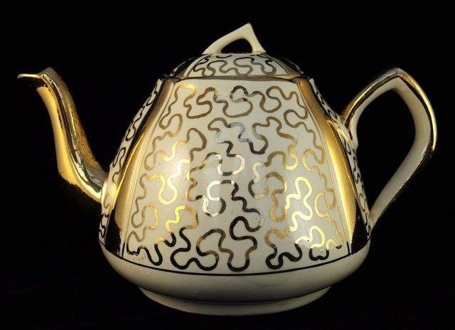 Lingard Webster Gold Art Deco Teapot