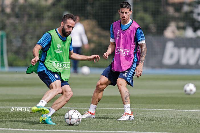 Dani Carvajal & James, training session