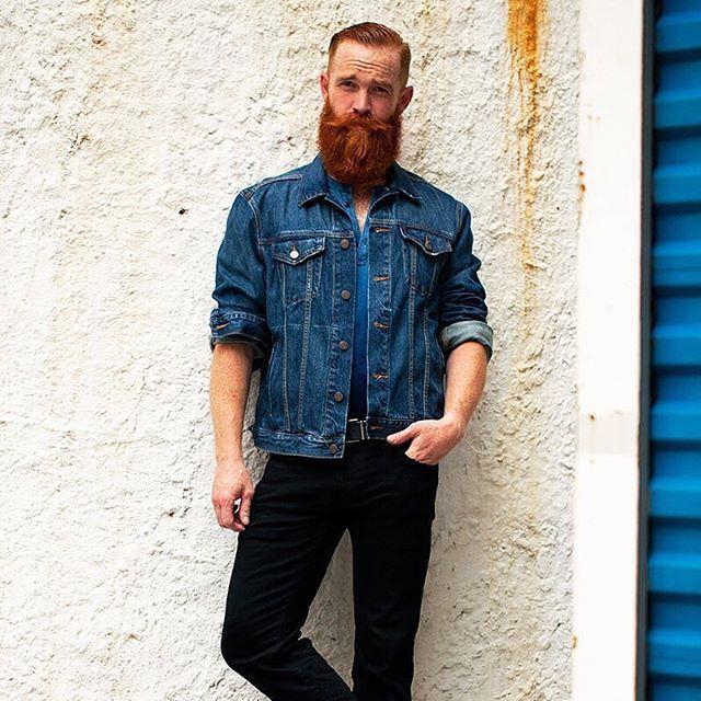 That's an epic ginger #beard on the Philly born Christopher James Hartman (@christopherjameshartman). 📷 by @sexwithtoni #beards #beardlife