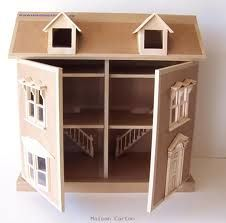 the 25 best ideas about cardboard dollhouse on pinterest. Black Bedroom Furniture Sets. Home Design Ideas