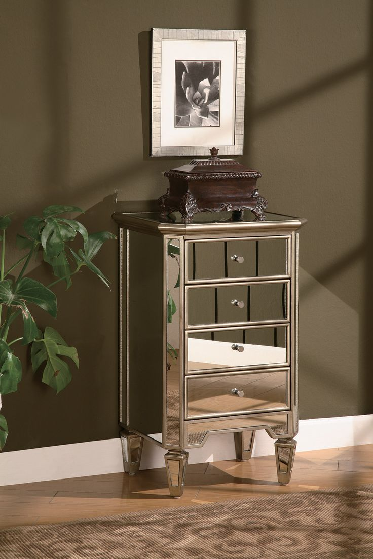 Lustre 4 Drawer Chest   Crestview Collection   Home Gallery Stores   Smart  FurnitureMirrored. 161 best images about Mirrored Furniture on Pinterest   Mirrored
