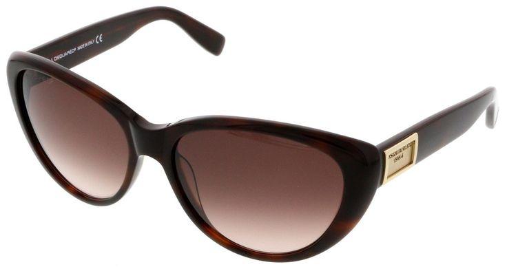 Dsquared DQ0145/S 52F Havana Cateye Sunglasses