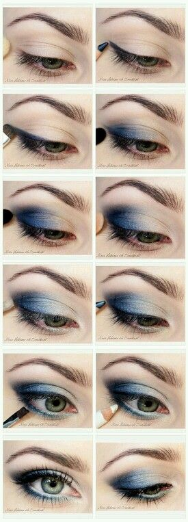 Navy blue eyeshadow is the best