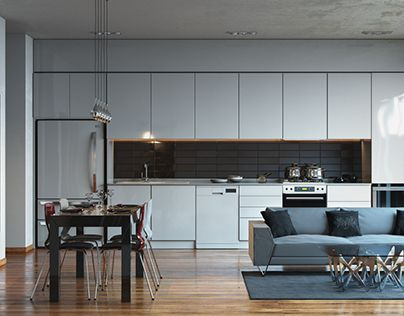 """Check out new work on my @Behance portfolio: """"A little test. White Kitchen"""" http://on.be.net/1LqzaZ8"""