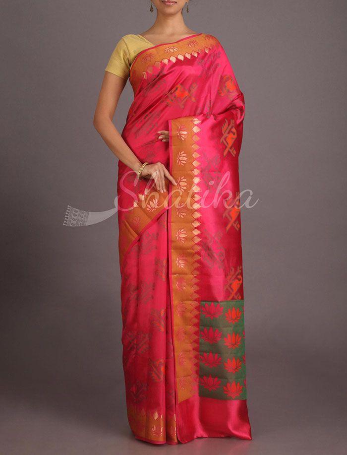 Maya Bloom Of Lotus Pure Banarasi Tussar Silk Saree