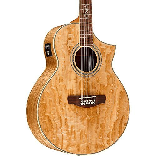 Ibanez EW2012ASENT 12-String Exotic Wood Acoustic-Electric Guitar Gloss Natural -- You can get more details by clicking on the image.