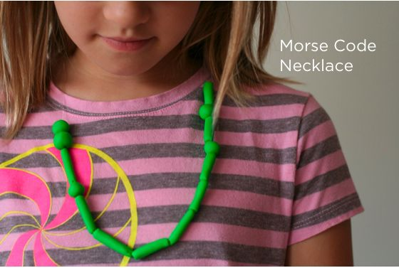So cool!! Kid DIY: Morse Code Necklace via @Jennifer Cooper of Classic Play!