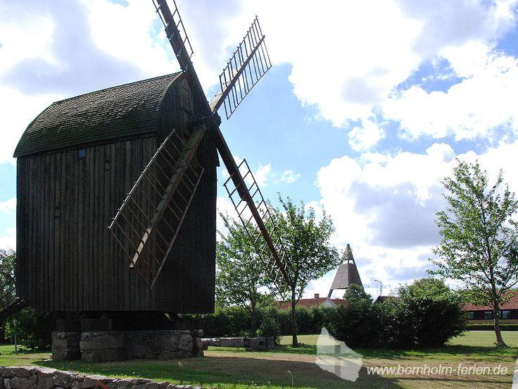 Mühle Bech Mølle in Svaneke, Ostküste Insel Bornholm #windmuehle #svaneke #insel #bornholm #daenemark