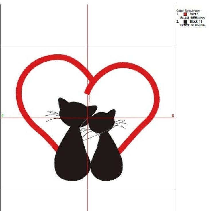Cat love embroidery machine design kitten kitty animal digital heart instant download pattern hoop file t-shirt fill stitch designs by SvgEmbroideryDesign on Etsy