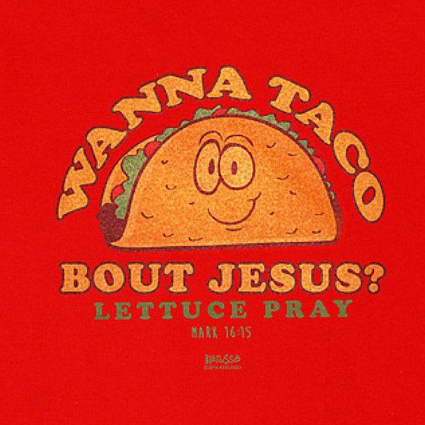 Wanna Taco 'bout Jesus | Kerusso Kids Christian T-Shirt | Youth Sizes | Free U.S. Shipping